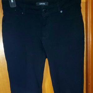 Black, comfort stretch casual pants